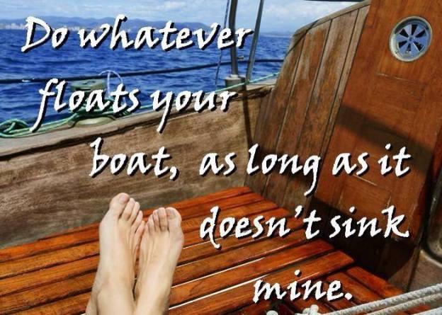 floats boat