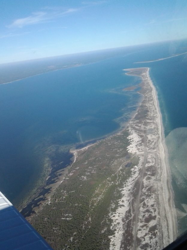 Flying low, approaching the Apalachicola airport